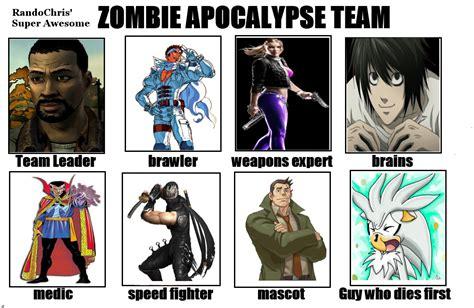 Zombie Apocalypse Team Meme - image 679632 my zombie apocalypse team know your meme