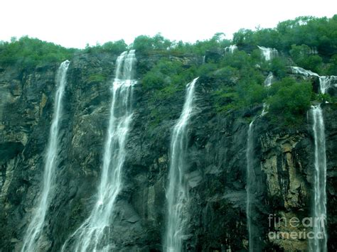 The Seven Sisters Falls In The Geirangerfjord Norway