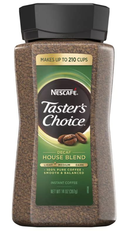 Caffeine are one of the most important things that are considered to regulate you can accurately check the amount of caffeine of instant coffee by reading the product label. Nescafe Taster's Choice House Blend Decaffeinated Instant Coffee, 14 oz.   Oasis Shopping Bahamas
