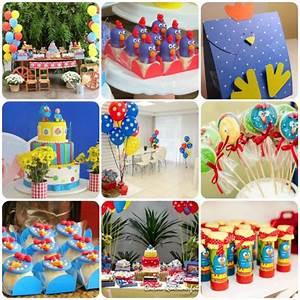 50 ideias de decoração de festa Galinha Pintadinha