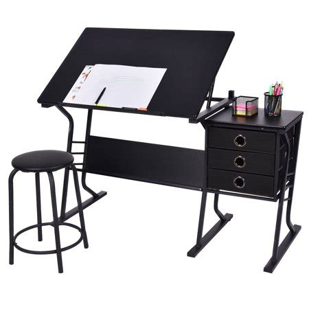costway drafting table adjustable drawing desk art craft