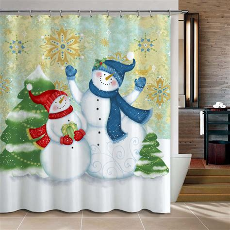 Christmassnowmanbathroomproductsshowercurtain