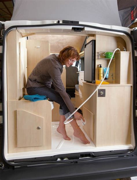 Sit Down Shower Stall by Sit Down Shower In The Back Of A Renault Trafic Camper