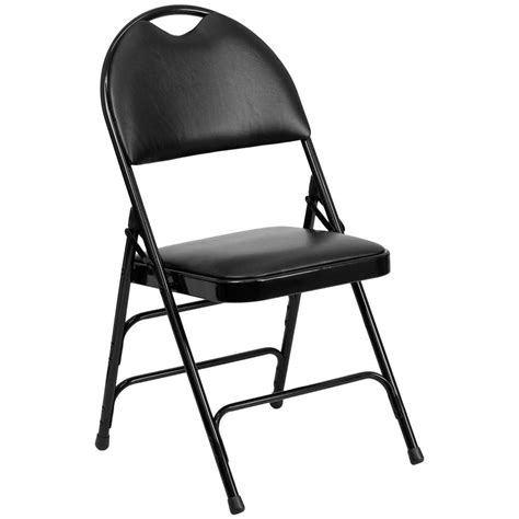 flash furniture ha mc705av 3 bk gg black metal folding