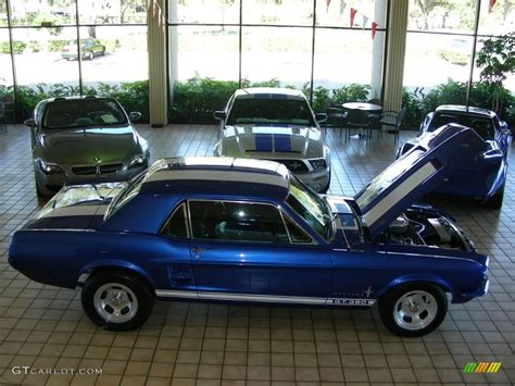 blue ford mustang coupe  photo  gtcarlot