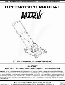 Mtd 11a 073a800 User Manual Lawn Mower Manuals And Guides