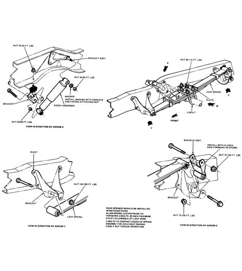 Chassis Layout Ford Bronco Tech Support