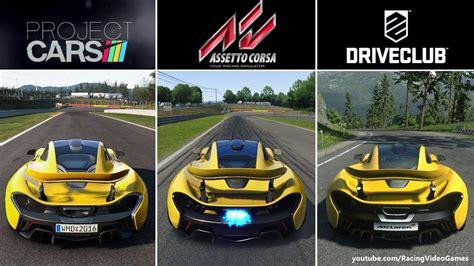 assetto corsa ps4 assetto corsa vs project cars vs driveclub ps4