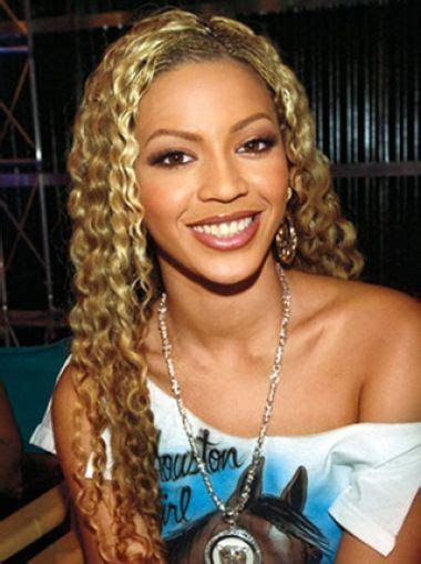 Beyonce Knowles Natural 24 Inches Long Curly Lace Front ...