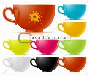 Image 3118406: Set of multi-colored of tea cup from ...