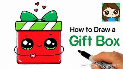 Draw Present Easy Gift Holiday Drawing Drawings