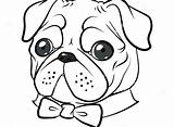 Pug Coloring Pages Printable Cute Pugs Colouring Dog Drawing Funny Dogs Puppy Print Printables Cartoon Epic Drawings Tie Getcolorings Editor sketch template