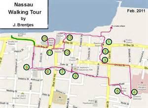 Nassau Walking Tour Map