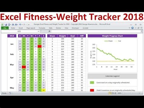 excel fitness tracker  weight loss tracker