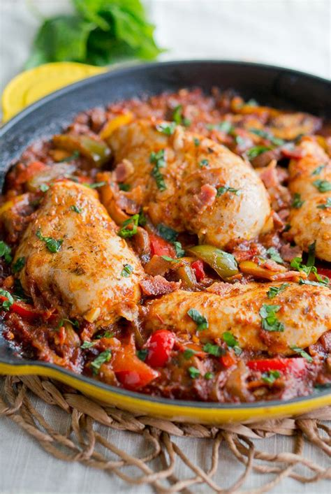 skillet chicken recipes one skillet chicken cacciatore delicious meets healthy