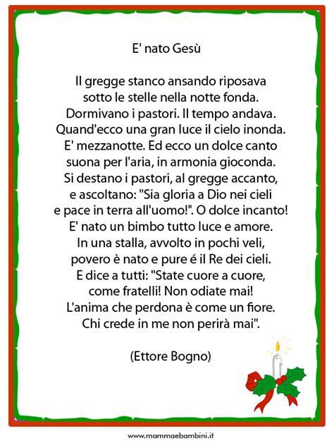 Le Di Natale Testo by Poesie O Filastrocche Sul Natale