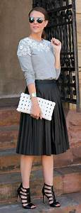 Trendy Leather Flare Skirt Outfit Styling for This Winter u2013 Designers Outfits Collection