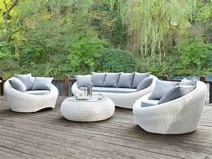 Salon De Jardin Osier : salon de jardin osier blanc abri de jardin et balancoire ~ Dallasstarsshop.com Idées de Décoration