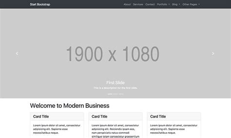 Admin Site Template Black by Modern Business Full Website Template For Bootstrap 4
