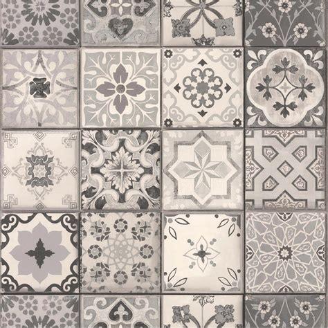 rouleau adhesif cuisine papier peint intissé carreau ciment gris leroy merlin