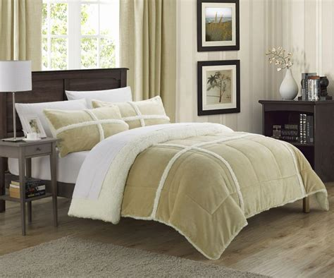 Sherpa Lined Comforter - chic home 3 chiron mink sherpa lined comforter set