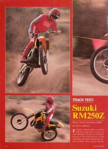 Cycle Guide Suzuki Rm250z Feb 1982 Track Test Download