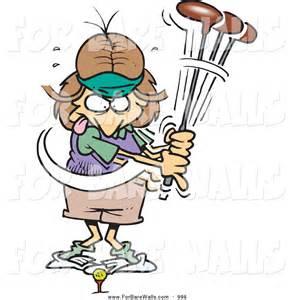 Female Golfer Cartoon