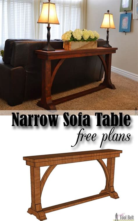 diy sofa table plans narrow sofa table her tool belt
