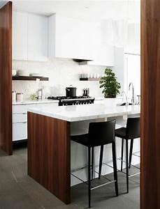 La cuisine en u avec bar voyez les dernieres tendances for Deco cuisine avec chaise cuisine noire