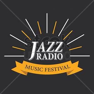 Jazz radio music festival logo Vector Image - 1809523 ...
