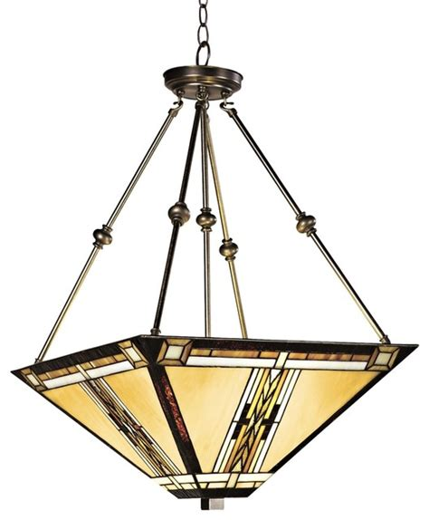 walnut mission style pendant chandelier modern