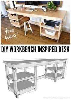 letter    workbench inspired desk