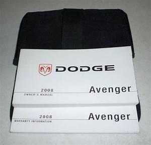 2008 Dodge Avenger Owners Manual Set Guide 08 W  Case Se