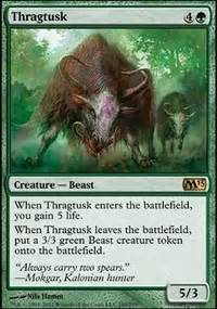 Green White Token Deck Tapped Out by Thragtusk Flicker Deck Standard Mtg Deck