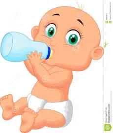 Cartoon Baby Drinking Bottle