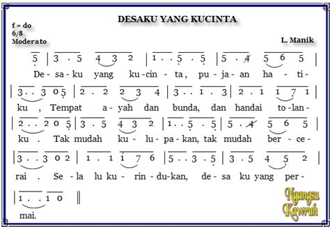 not angka lagu dari mata not angka lagu anak indonesia media belajar