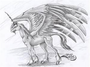 Beautiful Unicorns With Wings Drawings | www.imgkid.com ...