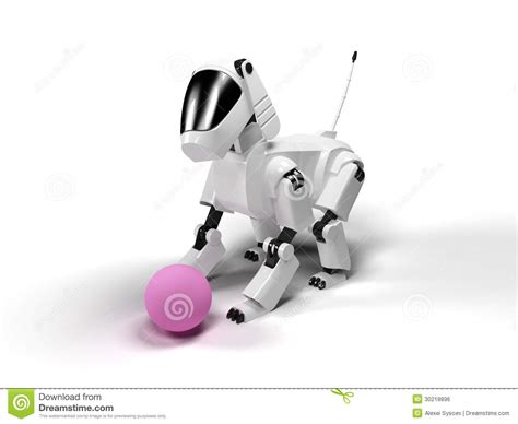 Robot Dog Stock Illustration. Image Of Future, Character