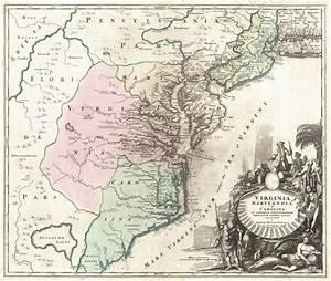 File:1715 Homann Map of Carolina, Virginia, Maryland and ...