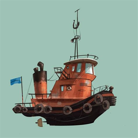 Tugboat Prop by Tug Boat Disney Ish Character Design Environments And