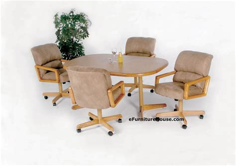 Dinette Table With Caster Chairs by Dining Table Dining Table And Chairs With Casters