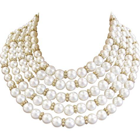 marvella  strand white faux pearl necklace  bracelet