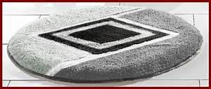 Teppich Rund 70 Cm : badematte grau schwarz weiss bad teppich rund 70 cm rundmatte neu ebay ~ Bigdaddyawards.com Haus und Dekorationen