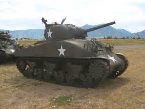 WWII Sherman Tank in Action