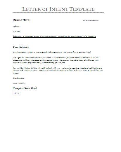 printable sample letter  intent sample form real