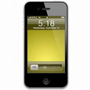 苹果iphone4手机PNG图标-512x512PNG图标-PNG素材-素彩图标大全
