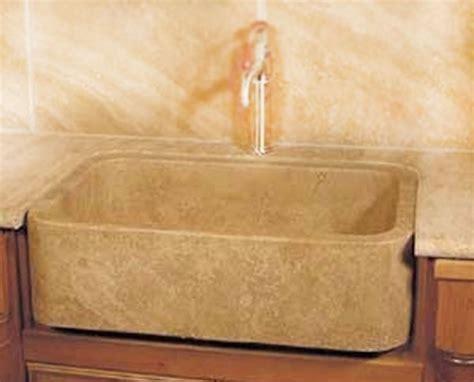 Stone NM18756 30 x 18 Durango Travertine Farmhouse Sink