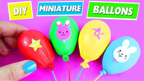diy miniature ballons easy doll crafts  minutes