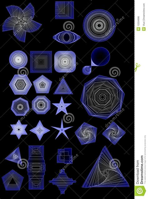 Abstract Shapes Collection by Abstract Shapes Collection Royalty Free Stock Image