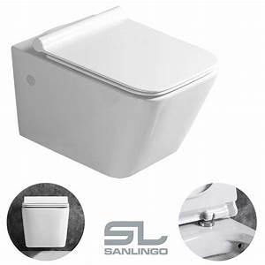 Hänge Wc Montieren : keramik wand h nge wc toilette sp lrandlos softclose wei lotuseffekt wc sitz ebay ~ Pilothousefishingboats.com Haus und Dekorationen
